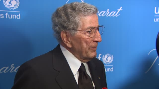 Tony Bennett at the UNICEF Ball Honoring Jerry Weintraub at Beverly Hills CA