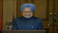Tony Blair and Manmohan Singh press conference Indian Prime Minister Manmohan Singh press conference SOT It is gratifying for me that Prime Minister...