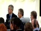 Tony Blair and Prince Andrew visit NSPCC 'Full Stop' campaign event Prince Andrew welcomes Tony Blair to the event audience applauds / Blair and...