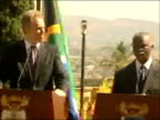 Tony Blair and Thabo Mbeki press conference It really has helped a great deal and I think that now there isn't anybody in the world who wouldn't want...
