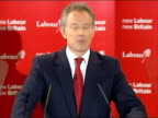 Blair speech Today I announce my decision to stand down from the leadership of the Labour Party The party will now select a new leader On 27 June I...