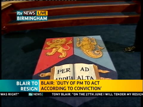 ITV News Special PAB 1140 1242 1234 West Midlands Birmingham University Steve Scott introduces DISCO about Blair's term in office with panel of local...