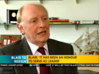 ITV News Special PAB 1242 1300 1245 Location unknown Lord Kinnock interview SOT
