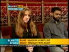 ITV News Special PAB 1242 1300 West Midlands Birmingham Aston interview SOT Reg Keys interview SOT