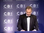 Tony Blair annual CBI dinner speech ENGLAND London INT Tony Blair MP speech SOT Recently I have met with your CBI members on two issues of concern to...