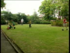 Tony Blair asked to pay school fees LIB Prime Minister Tony Blair MP playing football with sons and friends