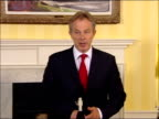 Tony Blair comments on possible UN sanctions Tony Blair statement to press SOT I wanted to say one or two things about the situation / tomorrow US...