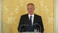 Tony Blair expressing regret and sorrow that intelligence assessments before the Iraq war were wrong and Iraqi civilians became victims of sectarian...