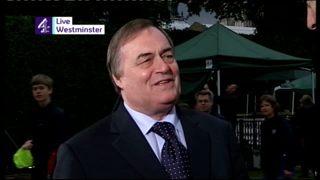 Tony Blair handover of power to Gordon Brown ENGLAND London Westminster EXT John Prescott MP LIVE interview SOT It reminded me of the wonderful...