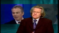 talks of religious beliefs London Professor Andrew Grayling interview SOT going to war in Iraq was deeply unpopular move with many people in country...