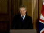 Tony Blair meets Japanese Prime Minister Shinzo Abe / Blair press conference comment on Saddam Hussein's execution Blair press conference SOT [Asked...