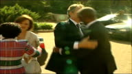 Tony Blair meets president Thabo Mbeki Blair and wife Cherie Blair from car to meet South African President Thabo Mbeki Blair along red carpet for...