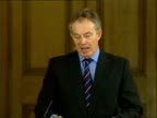Tony Blair monthly press conference discussing lowincome families Tony Blair MP press conference SOT Well there will be decisions taken about this in...