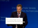 Tony Blair speech on crime and public services Now that is an example of how a public service is being changed so that it is personalised in this...