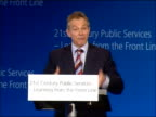 Tony Blair speech on crime and public services So that is the second thing which is the provider diversity or diversity of supply / The third thing...