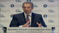 Tony Blair speech on education reforms Tony Blair speech SOT But if I'm frank I have also learnt from the experience of trying to make things work...