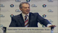 Tony Blair speech on education reforms Tony Blair speech SOT Discusses plans for specialised vocational diplomas and widening of access to...