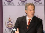 Tony Blair visit speech at University of South Africa Business School So in June the Africa Enterprise Challenge Fund will be launched at the Cape...