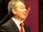 Tony Blair visit to Museum of Science and Industry/ Extract from speech ' Our Nation's Future' * * Beware flash photography * * Blair along to podium...