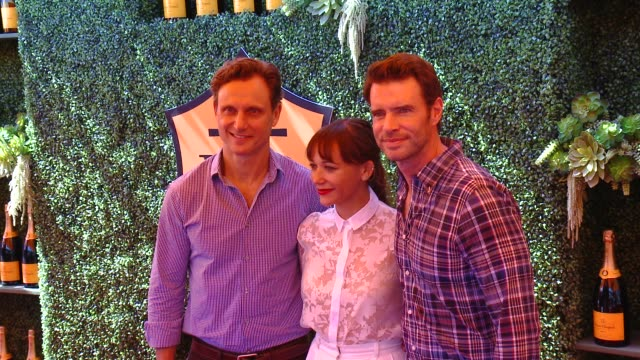 Tony Goldwyn Rashida Jones and Scott Foley at the FifthAnnual Veuve Clicquot Polo Classic Los Angeles at Will Rogers State Historic Park on October...