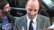 Tony Hale Martel Thompson greets fans while arriving at the Arrested Development Season 4 Premiere in Hollywood 04/29/13