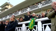 Tony McCoy becomes first jump jockey to ride 4000 winners Reporter and McCoy supporters cheering McCoys victory in grandstand