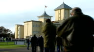 Tony McCoy becomes first jump jockey to ride 4000 winners Northamptonshire Towcester Racecourse Towcester Racecourse entrance gates Racegoers milling...