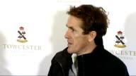 Tony McCoy press conference Tony McCoy into room with trophy / Tony McCoy press conference SOT
