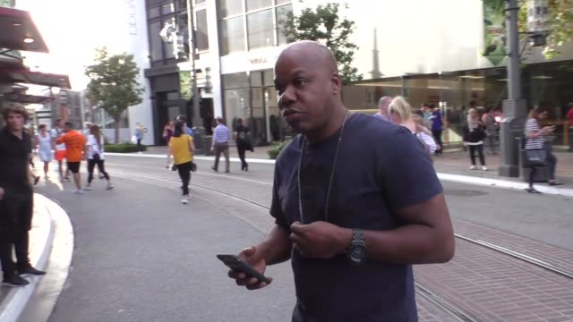 INTERVIEW Too Short talks about NFL players taking a knee while shopping at The Grove in Hollywood in Celebrity Sightings in Los Angeles