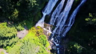 Top-Down Drone schot van Salt Creek Falls (Oregon)