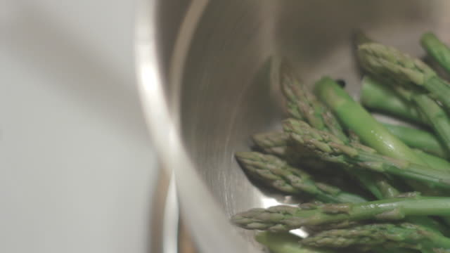 Top of Asparagus in Pan