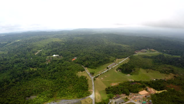 Bovenaanzicht in Khao Yai nationaal park.