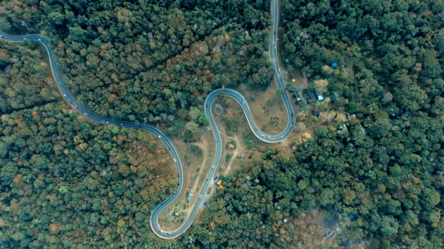 Top View of Rural Road