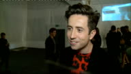 Topman London Collections fashion show ENGLAND London THROUGHOUT** People milling about at fashion show entrance area/ Nick Grimshaw standing for...