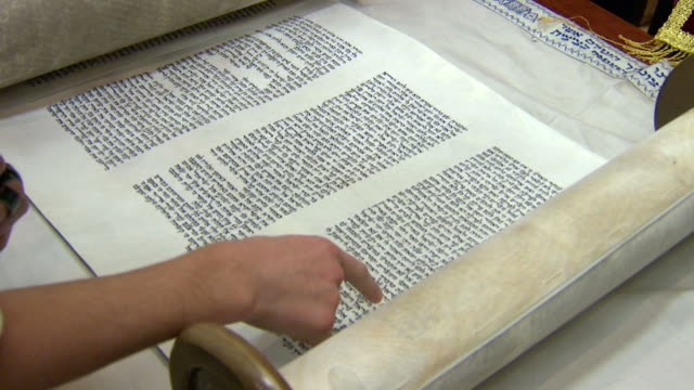 Torah Scroll Open and Reading