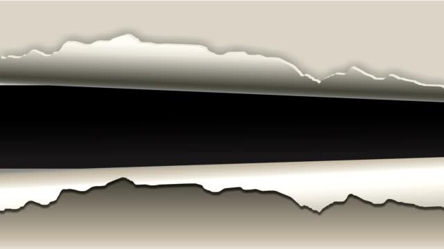 Zerrissen Papier-animation