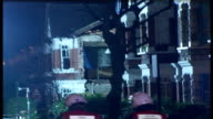 London Kensal Rise Chamberlayne Road Reporter to camera PAN to buildings worst affected by tornado PAN to David Bonner interview SOT Safety is...