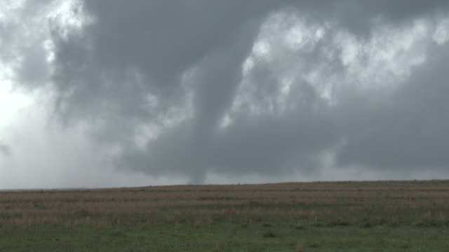 Tornado On The Ground Over Rural Texas, Supercell Thunderstorm