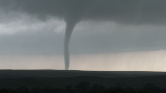 Tornado On The Ground, Wall Cloud, Supercell Thunderstorm