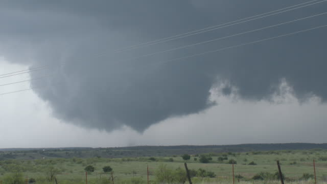 Tornado Touching Down, Picturesque Supercell Thunderstorm & Wall Cloud