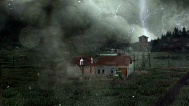 Tornado wreck a house
