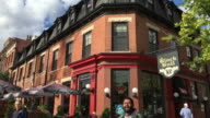 Toronto, Canada: Old buildings of Queen Street West, red brick architecture