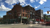 Toronto, Canada: Old Victorian architecture buildings in Queen Street West