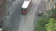 (HD1080i) Toronto, Ontario, Canada: Trams from Above