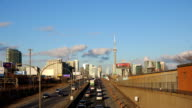 Toronto Skyline with CN Tower seen from Gardiner Expressway