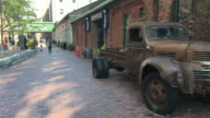 Toronto,Canada: Distillery District old abandoned truck in the famous tourist attraction place
