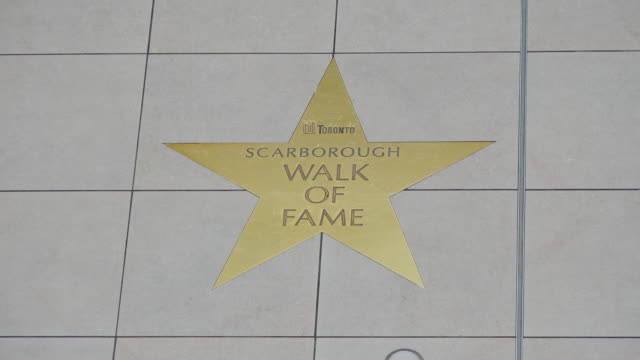 Toronto,Canada: Scarborough Walk of Fame inside the Town Centre. The modern shopping mall is a famous tourist attraction place