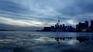 Toronto's CN-Tower in Winter