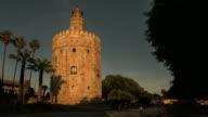 torre del oro timelapse atardecer sevilla España
