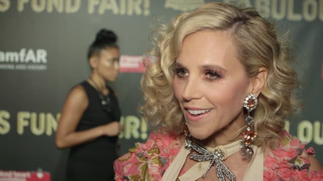INTERVIEW Tory Burch at Natalia Vodianova's Naked Heart Foundation to partner with amfAR in New York for Fabulous Fund Fair at Skylight Clarkson Sq...